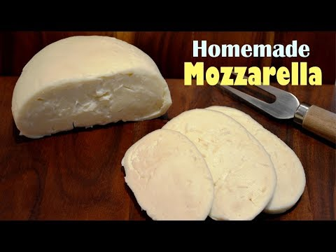How To Make Mozzarella Cheese at Home – Simple Homemade Mozzarella Recipe