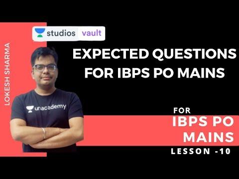 L10: Expected Questions | Quantitative Aptitude | IBPS PO Mains | Lokesh Sharma