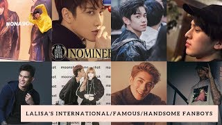 Famous & Handsome Fanboys of Lisa From Different Countries (Part 1 Compilation)