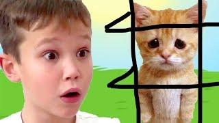 КРАСНЫЙ ШАР МИСТЕР МАКС спасает кошечку Мурку, мультик игра Детский летсплей #45