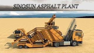 Мобильный асфальтобетонный завод SINOSAN МАР 2000 (160 т/ч) от компании Строительное Оборудование - видео 1