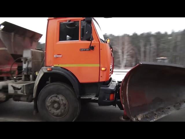 Чем обрабатывают ангарские дороги?