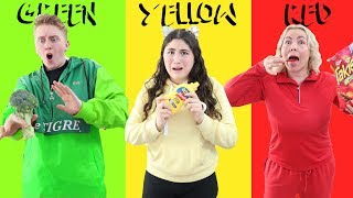 LAST TO EAT THE COLOR THAT YOUR WEARING WINS $10,000 CHALLENGE!