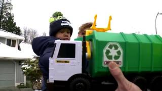 Boy with cancer forms friendship with garbage truck driver