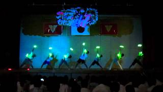 文化祭でヲタ芸@鶴城祭2012♪創聖のアクエリオン
