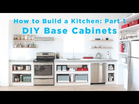 The Total DIY Kitchen: Part 1 Base Cabinets
