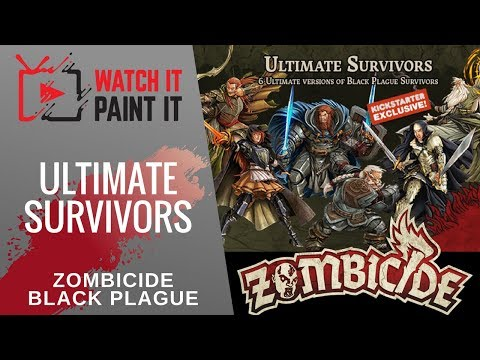 Zombicide Black Plague - Ultimate Survivors Unboxing