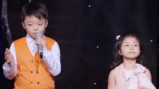 Kid duo shock audience with their rendition of You Raise Me ...