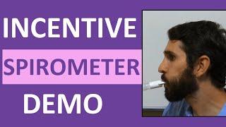 Incentive Spirometry (Spirometer) Demonstration Instruction   Incentive Spirometer Procedure
