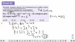Eğitim Vadisi AYT Matematik 3.Föy Fonksiyonlarda Uygulamalar Konu Anlatım Videoları