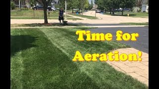 Best Time to Aerate and Overseed + add Ringer Fertilizer Lawn Restore (LAWN CARE)