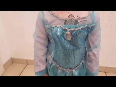 Vicloon Prinzessin Kostüm Mädchen, Eiskönigin Elsa Kleid Blau mit Diademe & Zauberstab