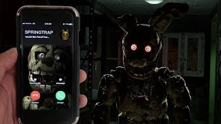 CALLING SPRINGTRAP ON FACETIME AT 3AM   SPRINGTRAP CHASED ME AT 3AM