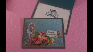 Stampin Up! Meets Heartfelt Creations - Under The Sea Birthday Card