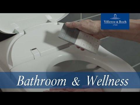 Villeroy & boch Viclean closetzitting met onderdouche 220-240v wit