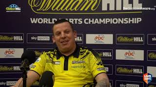 """Dave Chisnall on beating Van den Bergh: """"He got to me a bit, walking all the way to the studio"""""""