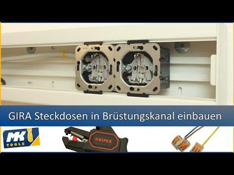 ✔ GIRA Steckdosen in Brüstungskanal einbauen [HD/60fps]