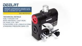 Pressure-Compensating Variable Flow Control Valve(without internal relief valve)-0-30GPM,3/8