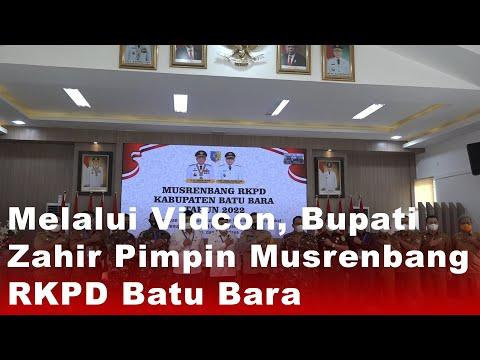 Melalui Vidcon, Bupati Zahir Pimpin Musrenbang RKPD Batu Bara