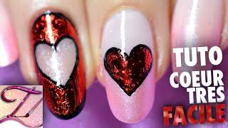 Tuto nail art Spécial Saint Valentin coeur inversé en foil