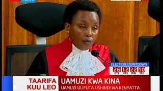 Deputy Chief Justice, Philomena Mwilu on transmission of results [Part 2]