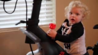 Peloton Bike | How to attach your cleats so easy a three year old does it and exploring my new bike