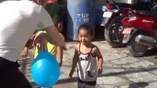 preview picture of video 'Balloon Basketball With Bens & Naani: Kalanki, Kathmandu, Nepal'