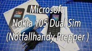 Microsoft Nokia 105 Dual Sim (Notfallhandy, Prepper)