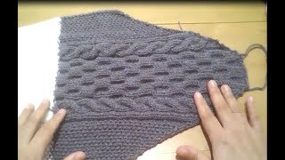 8b284d6fc7b90 كم تريكو خطوة بخطوة ... Knitting Sleeve Pullover For Men Step By Step