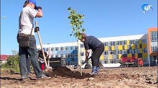В строящейся 37-й школе на улице Белорусская в Великом Новгороде началась череда субботников