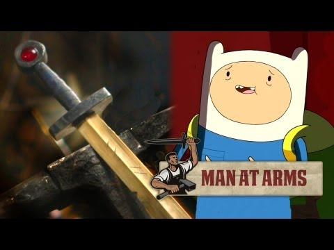 Forging Finn's Golden Sword (Adventure Time)