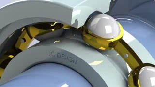 Deep Groove (Radial) Ball Bearing- SolidWorks Exploded Assembly/Working Animation W/ CAD File