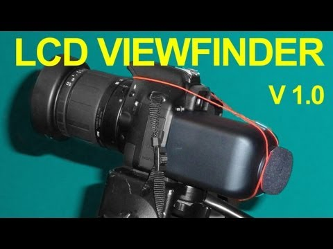 Make A DIY DSLR Video Viewfinder On The Cheap
