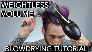 Blowdrying Techniques for Weightless Volume | Hair Styling Tutorial