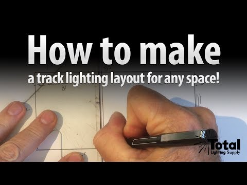 How to make a Track Lighting layout for any space Video 2