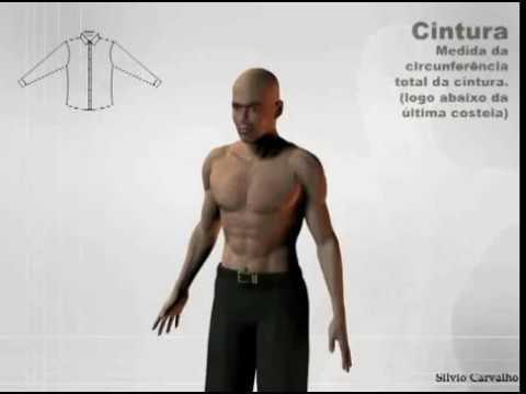 Como tirar as medidas da cintura - Silvio Carvalho