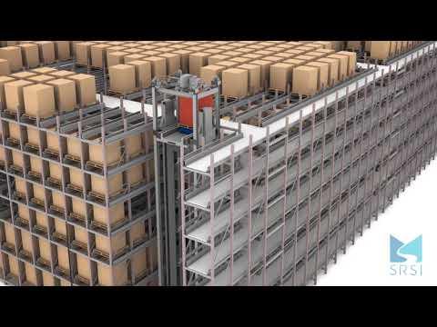 RAFT ASRS Pallet Storage System with Conveyor Intake | SRSI