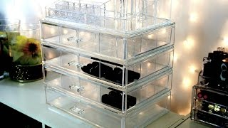 Clear Cube / Clear Acrylic Make Up Storage From T.J MAXX
