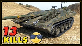13 Kills Without Taking Damage - Strv S1 - World of Tanks Gameplay