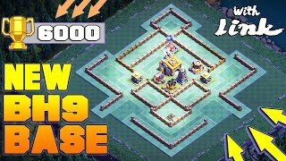 BEST Builder Hall 9 Base (BH9) | CoC BH9 LAVA LAUNCHER/O.T.T.O Hunt Update Base! | Clash Of Clans