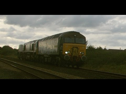 DRS 57310 'Pride of Cumbria' & 66430 pass Prestatyn on Valle…