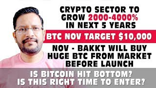 BTC $10k in Nov. Crypto Sector to grow 2000-4000% in next 5 Years. BAKKT to BUY HUGE BTC from Market