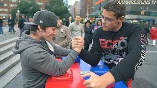 ARM WRESTLING AT UNION SQUARE NYC