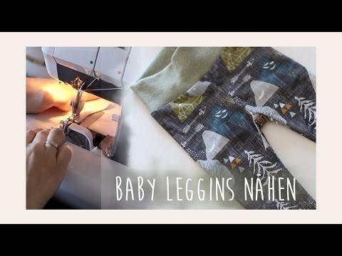 Baby Leggings schnell und einfach nähen // Tutorial für Anfänger