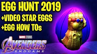 🔴 Roblox EGG HUNT 2019 - FULL GUIDE, VIDEO STAR EGG GIVEAWAY, ALL EGGS, AVENGERS END GAME! | Roblox