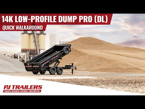 2021 PJ Trailers 14K Low-Profile Dump PRO (DL) 12 ft. in Elk Grove, California - Video 1