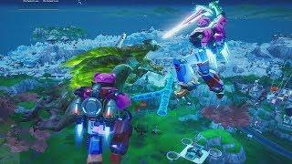 Fortnite Monster (GODZILLA) Vs MECHA Robot Battle!! FULL Film Scene & Buying/Unlocking