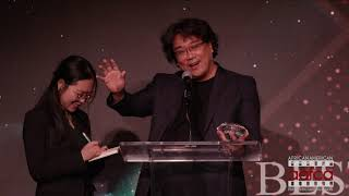 BONG JOON HO'S VERY FUNNY AAFCA ACCEPTANCE SPEECH