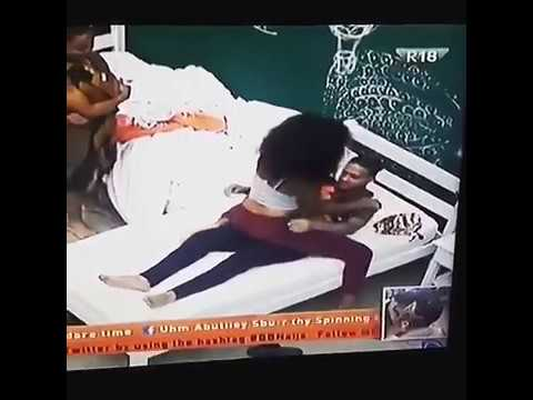 BigBNaija Princess demonstrates her favorite sex position on Rico. .