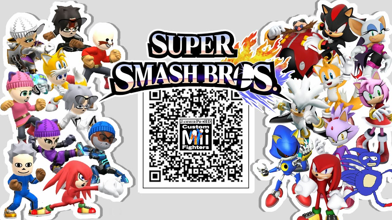 Video Shadow Eggman Tails Knuckles More Mii Fighter Qr